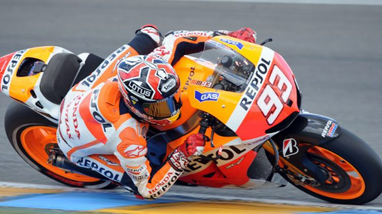 Marc Marquez (Honda) au Mans (JEAN-FRANCOIS MONIER / AFP)