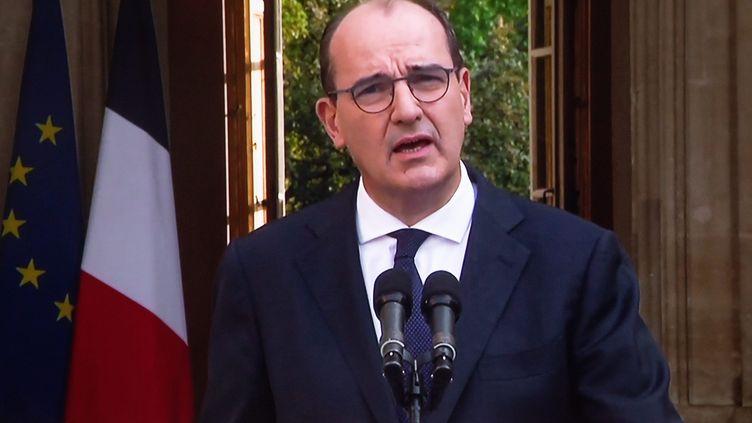 Le Premier ministre Jean Castex à l'issue du Conseil de défense à Matignon le 11 septembre 2020. (FRED DUGIT / MAXPPP)