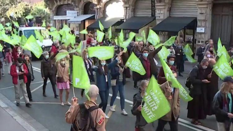 Manifestation loi bioéthique. (FRANCEINFO)