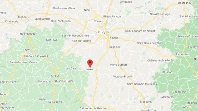 La commune de Nexon en Haute-Vienne. (GOOGLE MAPS / FRANCETV INFO)
