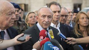 Le ministre de l'Intérieur Gérard Collomb, le 1er octobre 2017, à Marseille (Bouches-du-Rhône). (BERTRAND LANGLOIS / AFP)