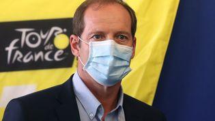 Christian Prudhomme,directeur du Tour de France, à Nice (Alpes-Maritimes), le 19 août 2020. (VALERY HACHE / AFP)