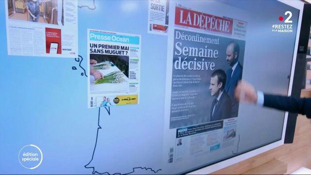 Kiosque à journaux: la presse régionale s'intéresse au plan de déconfinement