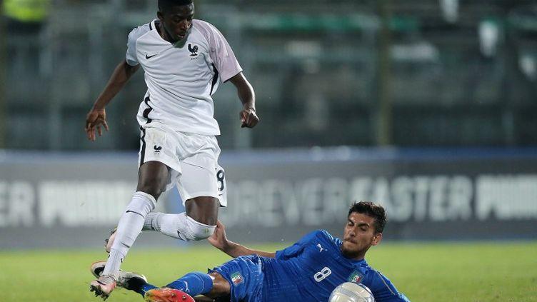 Ousmane Dembele sous le maillot des U21 français (MARCO BERTORELLO / AFP)