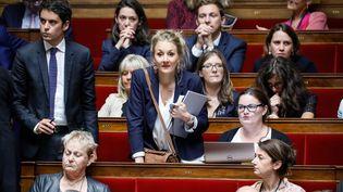 La députée Alice Thourot, le 26 juillet 2017 à l'Assemblée nationale lors des questions au gouvernement. Image d'illustration. (THOMAS PADILLA / MAXPPP)