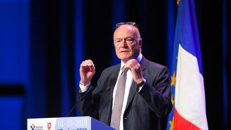 Alain Rousset, président de la région Nouvelle-Aquitaine, s'exprime lors du 15e Congrès des régions, le 1er octobre 2019 à Bordeaux (Gironde). (NICOLAS TUCAT / AFP)