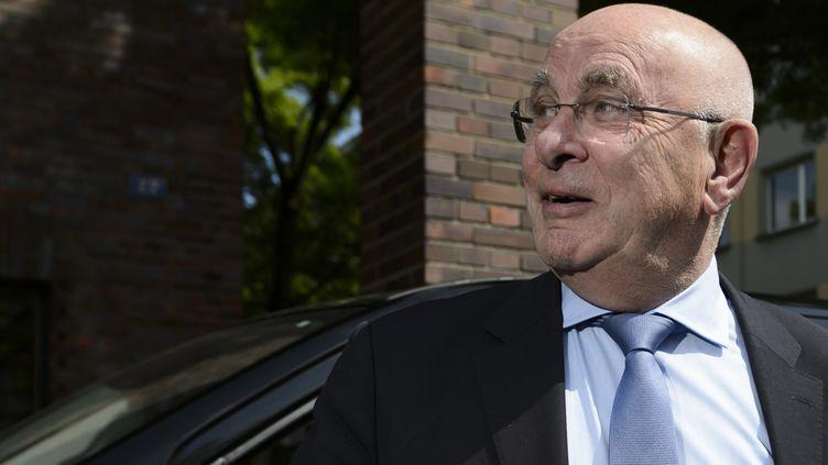 Michael Van Praag est le premier à se présenter à la présidence de l'UEFA pour l'élection qui aura lieu le 14 septembre. (FABRICE COFFRINI / AFP)