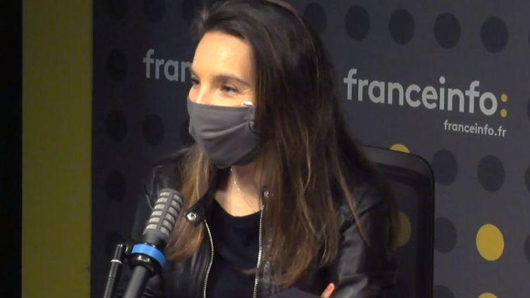 Amel Cogard,directrice de l'unité Éducation de France Télévisions, à franceinfo le 7 avril 2021 (FRANCEINFO / RADIO FRANCE)