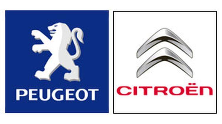 Logo des deux firmes automobiles Peugeot et Citroën