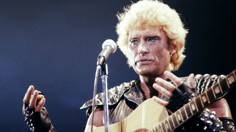 Johnny Hallyday, le 14 septembre 1982. (PHILIPPE BOUCHON / AFP)