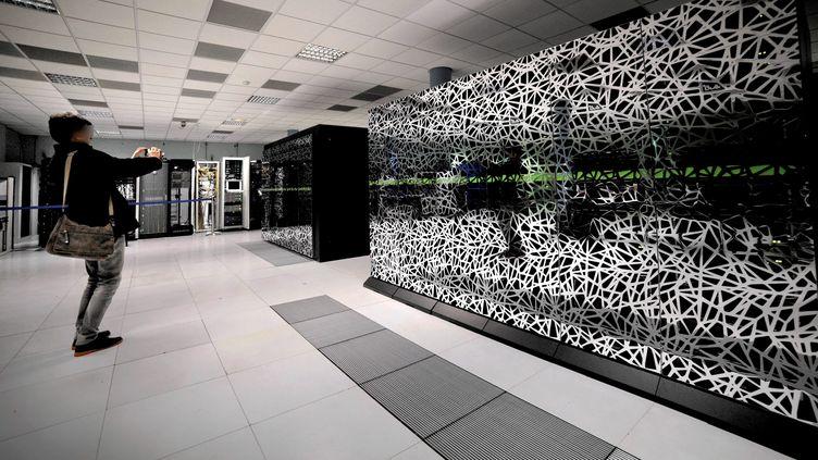 Le nouveau supercalculateur de Météo France à Toulouse (Haute-Garonne), le 4 mars 2014. (  MAXPPP)