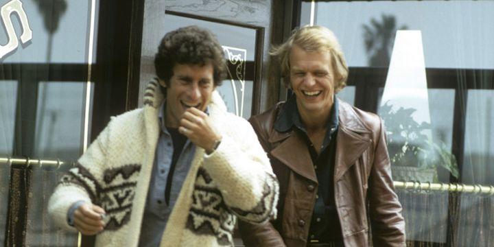Starsky et Hutch, alias Paul Michael Glaser et David Soul, dans une photo datée du 30 avril 1975  (ABC Photo Archives / Getty Images)