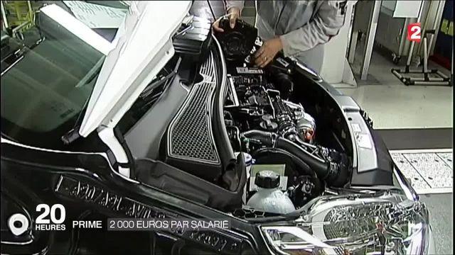 Automobile : le groupe PSA va verser une prime de 2 000 euros à ses salariés