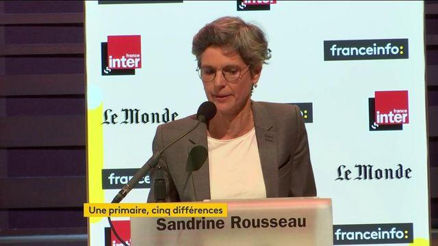 """Sandrine Rousseau : """"Si je me présente à cette primaire c'est pour une raison assez simple : c'est que mon humiliation a des limites"""""""