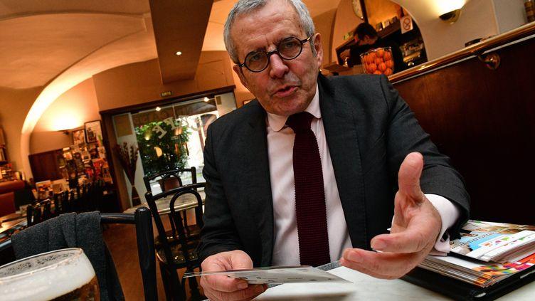 Francis Palombi, président de la Confédération des commerçants de France (CDF), 8 mars 2017. (EVA TISSOT / MAXPPP)