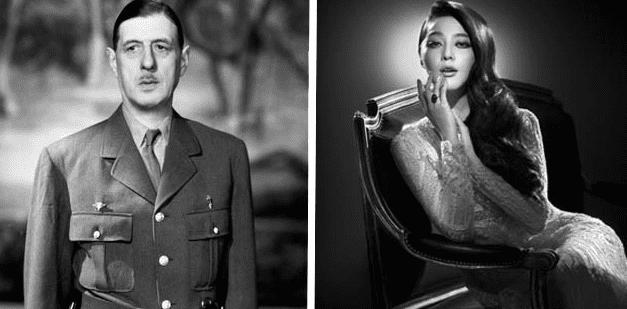 Le général de Gaulle et Fan Bing Bing  (DR)