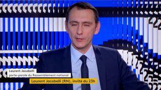 Laurent Jacobelli (RN). (FRANCEINFO)