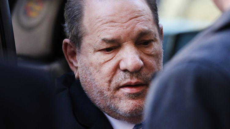 L'ancien producteur de cinéma Harvey Weinstein, lors de son procès à New York (Etats-Unis), le 24 février 2020. (SPENCER PLATT / GETTY IMAGES NORTH AMERICA / AFP)