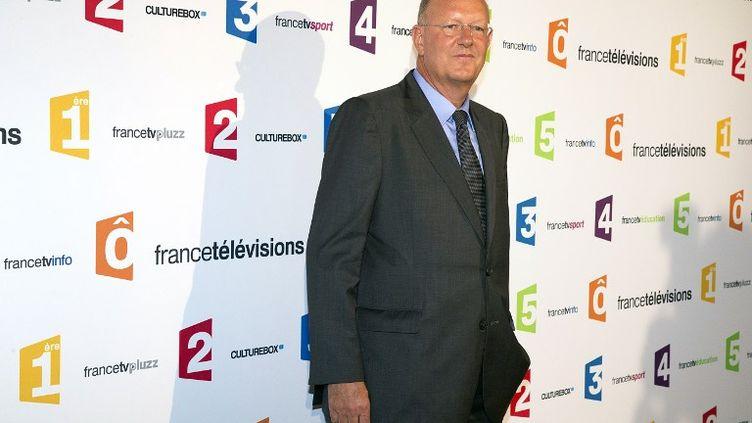 Rémy Pflimlin, le 26 août 2014 au siège de France Télévisions, à Paris. (JOEL SAGET / AFP)