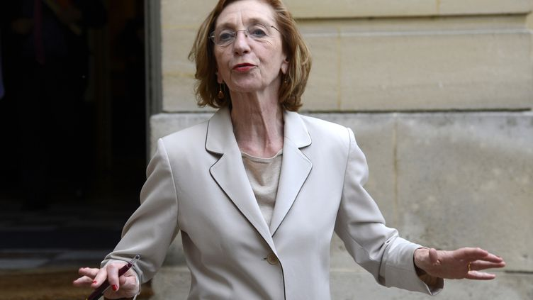 La ministre du Commerce extérieur,Nicole Bricq, sort des bureaux du Premier ministre, à Paris,le 17 juin 2013. (BERTRAND GUAY / AFP)