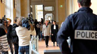 Procès de Laurence Nait Kaoudjt mise en accusation pour des faits d'homicide volontaire sur son enfant mineure. Rennes (Ille-et-Vilaine), le 14 septembre 2015 (MAXPPP)