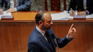 Le Premier ministre Edouard Philippe, le 23 octobre 2018 à l'Assemblée nationale. (FRANCOIS GUILLOT / AFP)