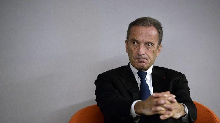 Henri Proglio, alors PDG d'EDF, le 14 octobre 2014 au Bourget (Seine-Saint-Denis). (STEPHANE DE SAKUTIN / AFP)