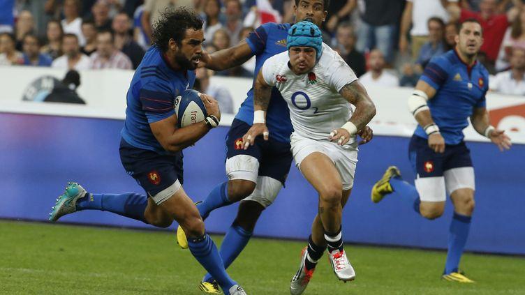 Yoann Huget a inscrit le seul essai de la partie côté français (THOMAS SAMSON / AFP)