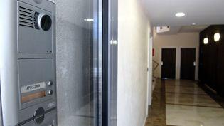 L'entrée des locaux de la société Apollonia à Aix-en-Provence (Bouches-du-Rhône), le 13 mai 2012. (MAXPPP)