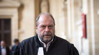 Maître Eric-Dupond-Moretti, avoact pénaliste, ici à la Cour d'assises spéciale de Paris en octobre 2017. (MAXPPP)
