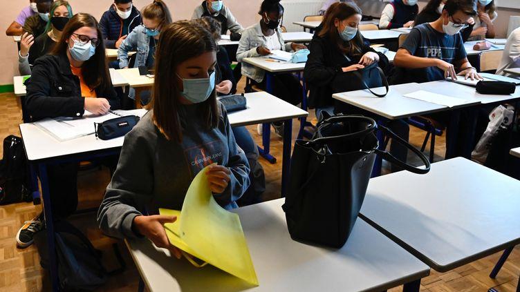 Une classe de lycée à Rennes. (DAMIEN MEYER / AFP)