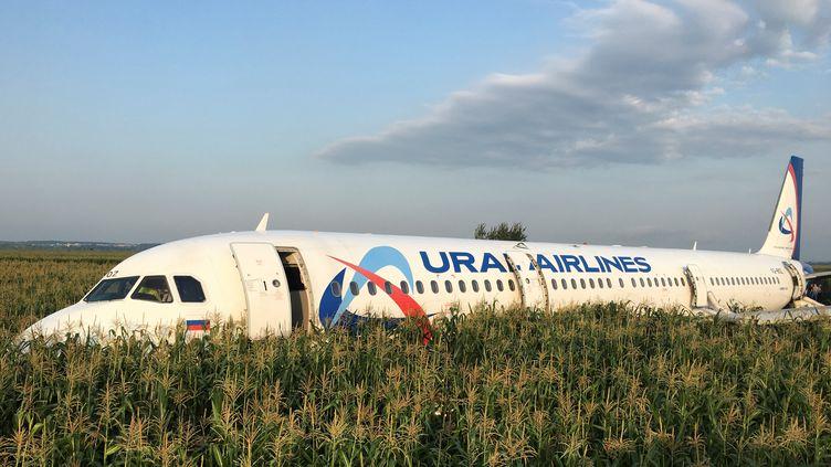 Un Airbus avec 233 personnes à son bord a dû atterrir d'urgence, jeudi 15 août, près de l'aéroport de Moscou. (STRINGER / REUTERS)