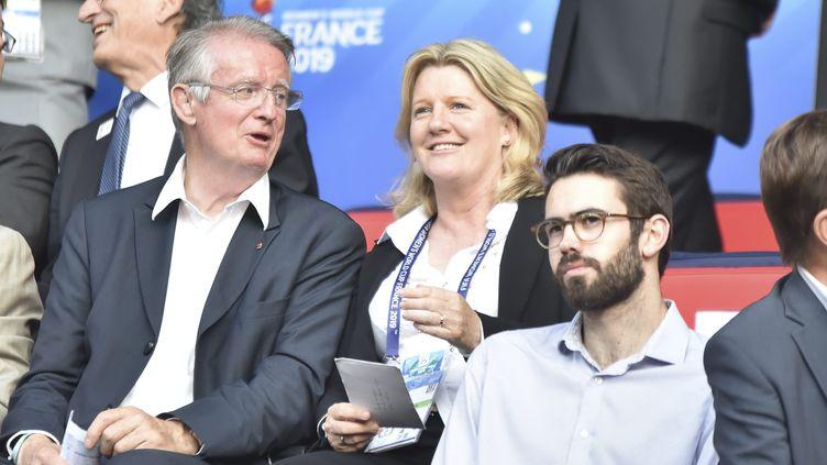 Brigitte Henriques, vice-présidente de la Fédération française de football, lors du match en la France et le Nigéria, le 17 juin 2019. (FR?D?RIQUE GRANDO / MAXPPP)