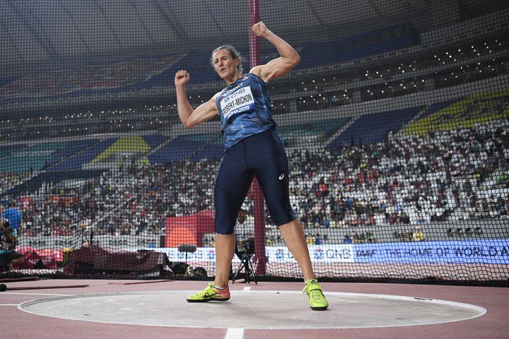Mélina Robert-Michon aux mondiaux de Doha en octobre 2020 (STEPHANE KEMPINAIRE / KMSP)