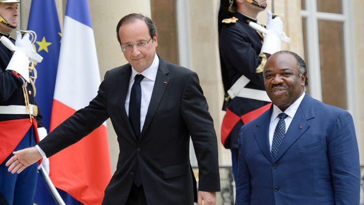 Le Gabonais Ali Bongo est le cinquième chef d'Etat africain rencontré par François Hollande depuis son élection. (ERIC FEFERBERG / AFP)