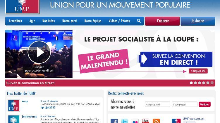 Capture d'écran du site u-m-p.org (DR)