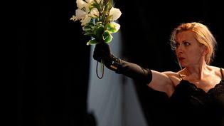 """Natalie Dessay en répétition : """"Und""""création française de la pièce de Howard Barker, à Tours, mise en scène Jacques Vincey  (Marie Pétry)"""