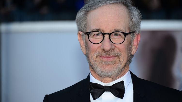 Le réalisateur et producteur américainSteven Spielberg, lors de la 85e cérémonie des Oscars à Hollywood (Etats-Unis) le 24 février 2013. (FREDERIC J. BROWN / AFP)