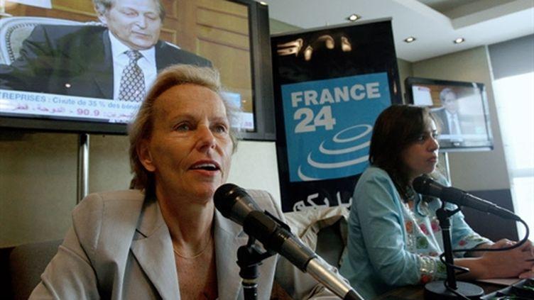 Christine Ockrent, directrice déléguée de l'Audiovisuel extérieur de la France (AEF) (AFP - Karim Sahib)