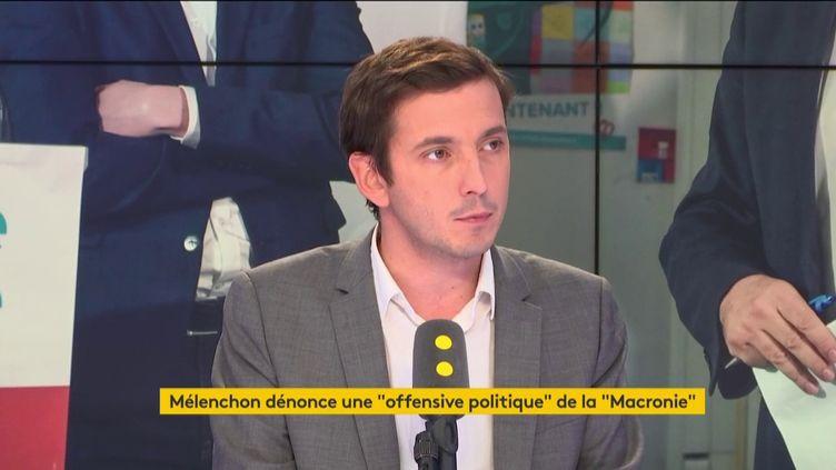 Aurélien Taché, député La République en marche du Val d'Oise, sur franceinfo le vendredi 19 octobre. (FRANCEINFO / RADIOFRANCE)