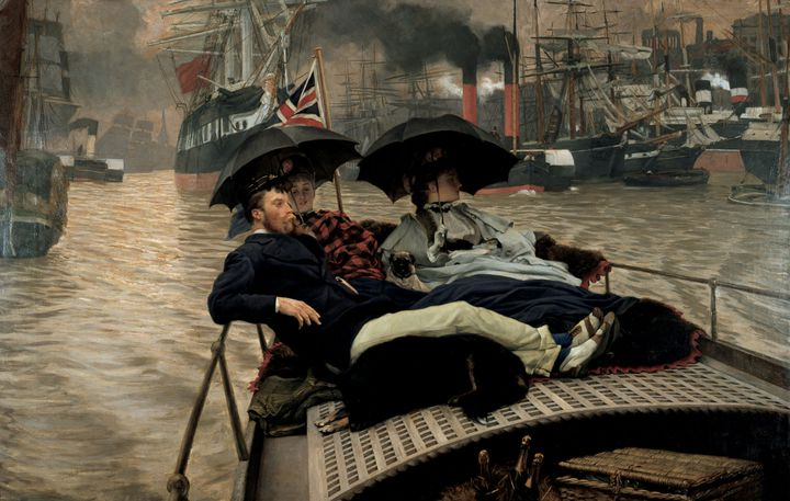 """James Tissot, """"On the Thames"""", 1876, Angleterre, Wakefield, The Wakefield Permanent Art Collection (Photo © Jerry Hardman-Jones)"""
