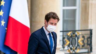 Le secrétaire d'État chargé des Affaires européennes, Clément Beaune, le 30 juin 2021 au palais de l'Elysée (Paris). (XOSE BOUZAS / HANS LUCAS)