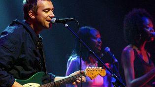 Damon Albarn lors d'un concert hommage à Fela Kuti à Londres.  (YUI MOK/AP/SIPA)