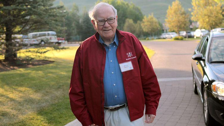 Warrenn Buffett, le 7 juillet 2011, dans l'Idaho (Etats-Unis). (SCOTT OLSON / GETTY IMAGES NORTH AMERICA / AFP)