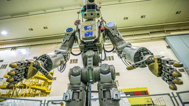 Le robot Fedor avant d'être envoyé sur l'ISS. (- / ROSCOSMOS SPACE AGENCY)