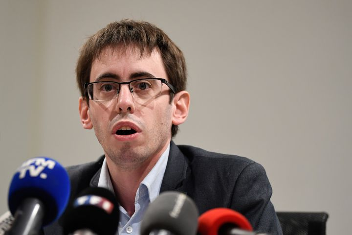 Quentin Guillemain, président de l'Association des familles victimes du lait contaminé aux salmonelles. (ERIC FEFERBERG / AFP)