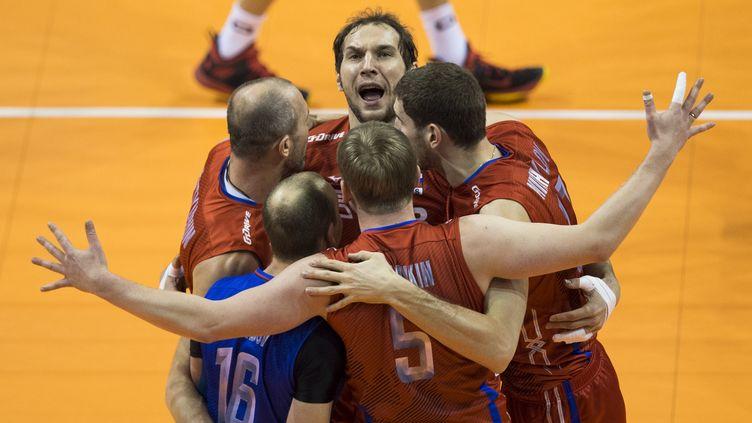 La joie des joueurs russes (JOHN MACDOUGALL / AFP)