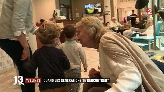Yvelines : quand crèche et maison de retraite fonctionnent ensemble