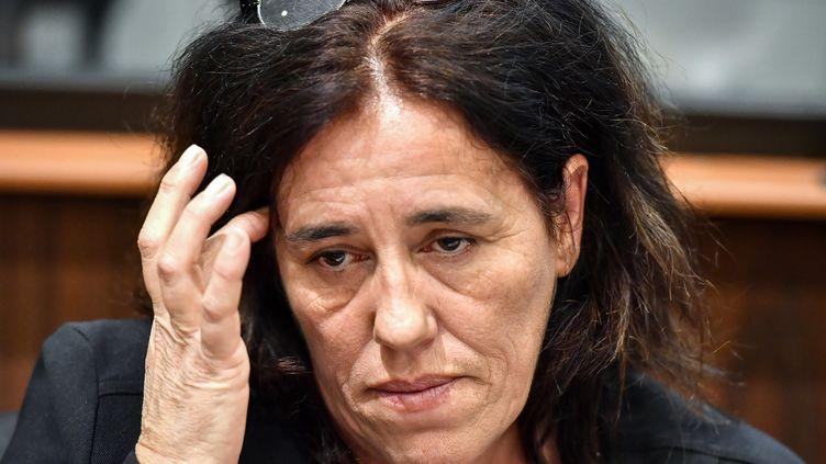 Rosa-Maria Da Cruz, la mère de la petite Séréna, lors de l'ouverture de son procès à Tulle (Corrèze), le 12 novembre 2018. (GEORGES GOBET/AFP)