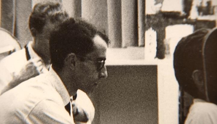 Jean-Luc Godard sur le tournage d'A bout de souffle, 1960  (Raymond Cauchetier)